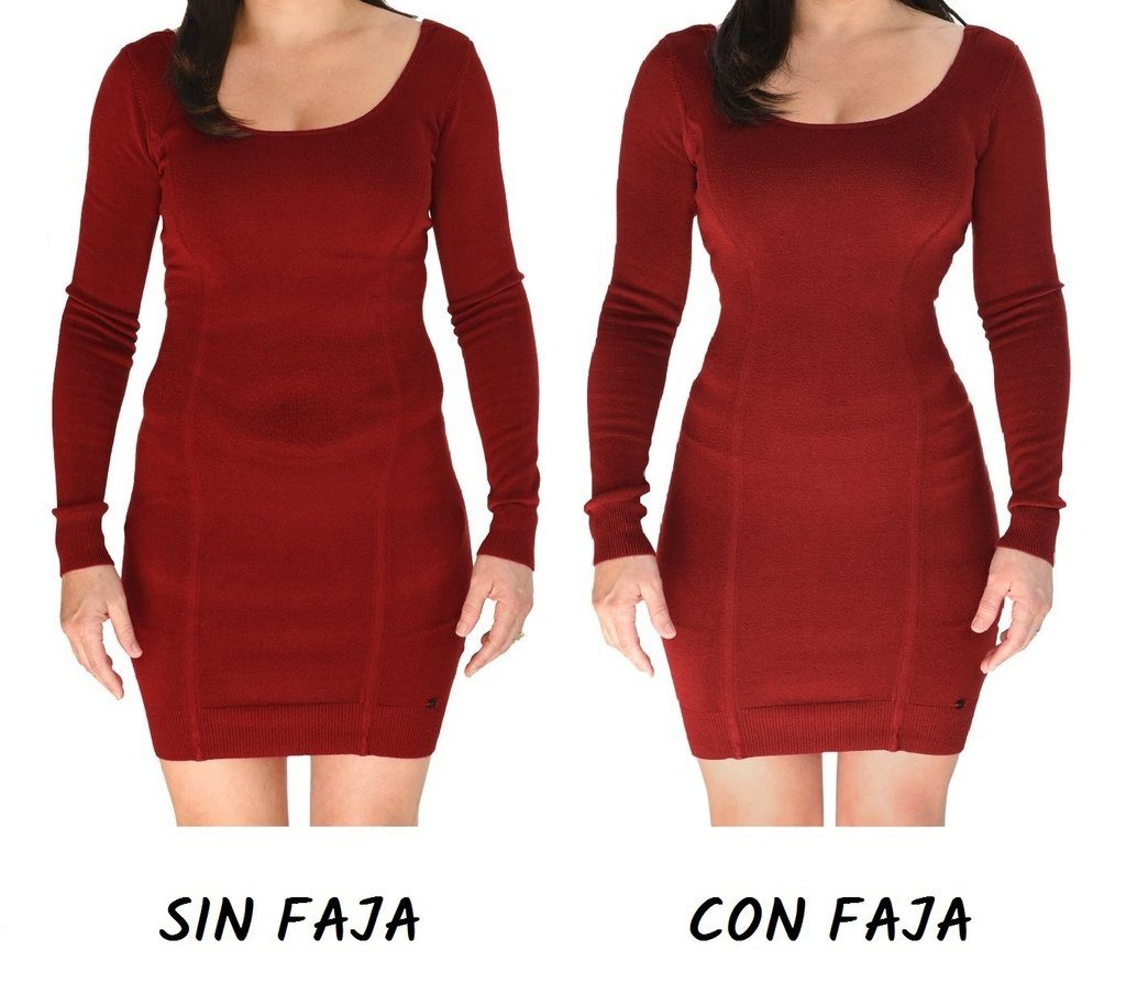 antes y despues faja para vestidos